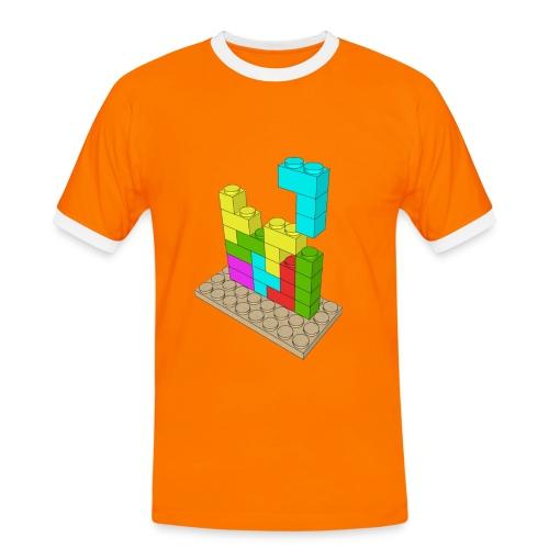 Piezas juego construcción tetris - Camiseta contraste hombre