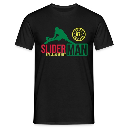 SliderMan 971/972 Simple Vert/Rouge/Jaune T-shirt (flex3c) - T-shirt Homme