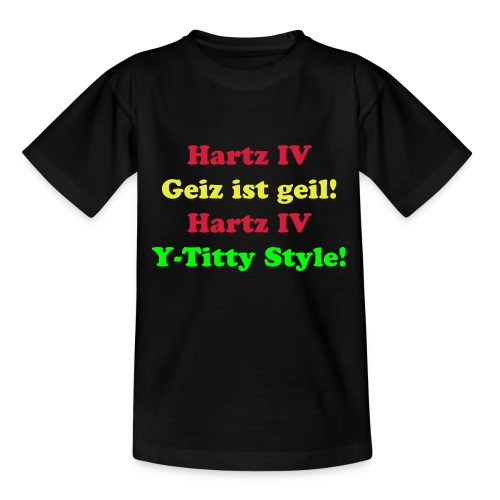 Y-Titty Kinder - Teenager T-Shirt
