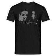 T-Shirts ~ Men's T-Shirt ~ Afraid of Monsters + Team Psykskallar (back)