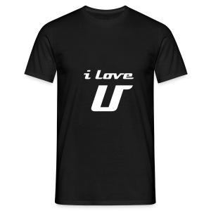 I love U, White on Black - Männer T-Shirt