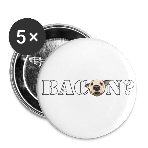 BACON? - Buttons small 1''/25 mm (5-pack)