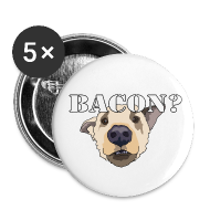 Buttons ~ Buttons small 25 mm ~ BACON DOG