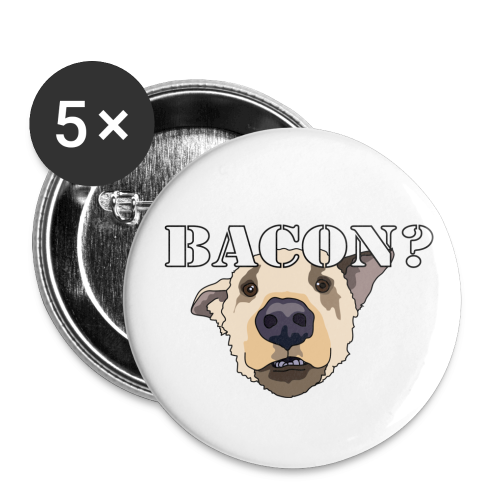 BACON DOG - Buttons small 1''/25 mm (5-pack)