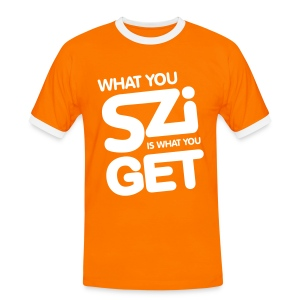 What you Szi is what you Get - Mannen contrastshirt