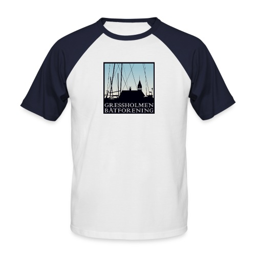 2-farget, herre - Kortermet baseball skjorte for menn