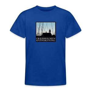barn, klassisk, kongeblå - T-skjorte for tenåringer