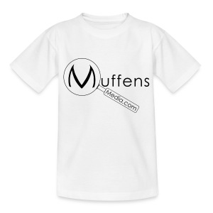 Muffens Media Kids T-shirt: White - Teenage T-shirt