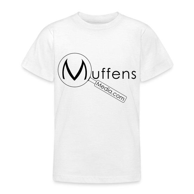 Muffens Media Kids T-shirt: White