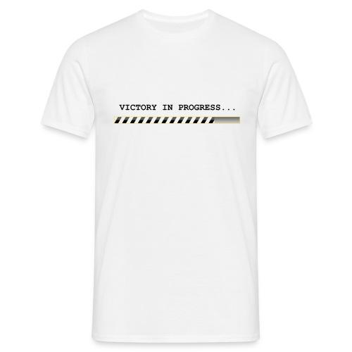 T-shirt bianca VICTORY IN PROGRESS - Maglietta da uomo
