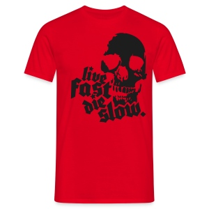 Live fast die slow -  Black sparkle - Men's T-Shirt