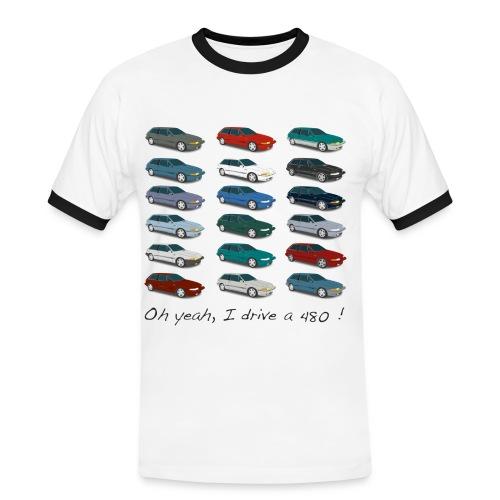 T-shirt homme vintage - Colors of 480 - T-shirt contrasté Homme