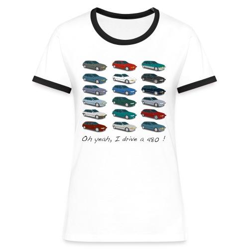 T-shirt femme vintage - Colors of 480 - T-shirt contrasté Femme