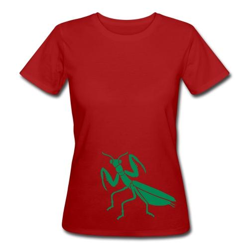Bio Shirt gottesanbeterin mantis praying insekt fangschrecke tiershirt shirt tiermotiv - Frauen Bio-T-Shirt