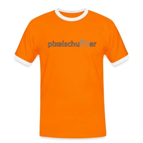 PixelschuPser - Männer Kontrast-T-Shirt