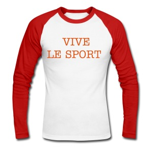 Texte - T-shirt baseball manches longues Homme