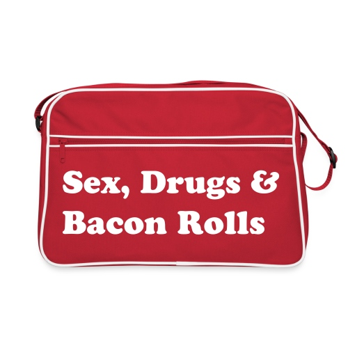 Sex, Drugs & Bacon Rolls Bag - Retro Bag
