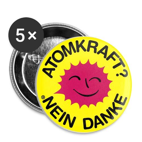 Atomkraft Sticker - Buttons groß 56 mm