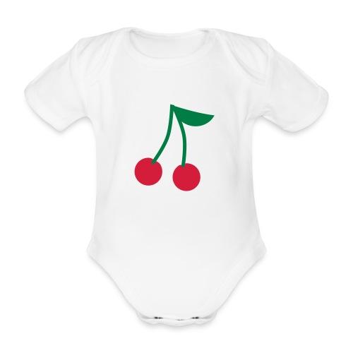Body bébé cerises - Body bébé bio manches courtes