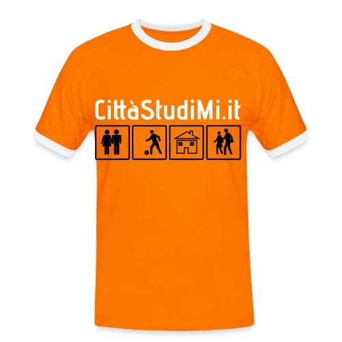T-Shirt Uomo CittàStudiMi.it - Maglietta Contrast da uomo