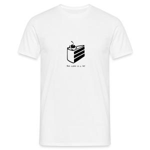 Cake Is a Lie - Maglietta da uomo