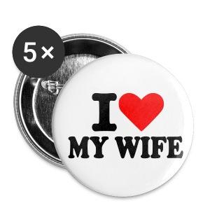 Spilla amo mia moglie :) - Spilla media 32 mm