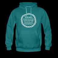 Pullover & Hoodies ~ Männer Premium Kapuzenpullover ~ Kapuzenshirt Weissagung weißer Druck (Farbwahl)