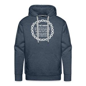 Kapuzenshirt Weissagung weißer Druck (Farbwahl) - Männer Premium Hoodie
