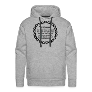 Pullover & Hoodies ~ Männer Premium Kapuzenpullover ~ Kapuzenshirt Weissagung schwarzer Druck (Farbwahl)
