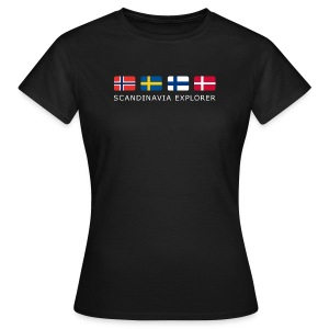 Women's T-Shirt SCANDINAVIA EXPLORER white-lettered  - Women's T-Shirt