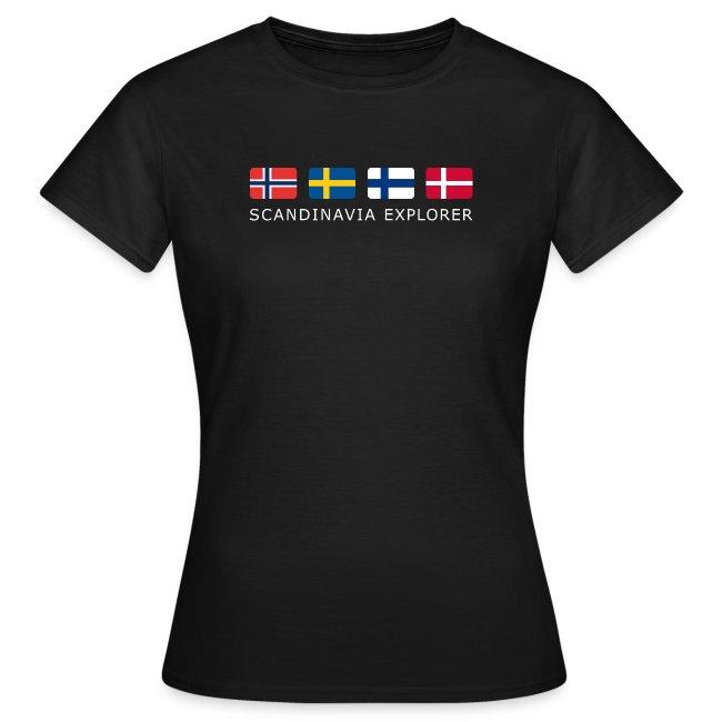 Women's T-Shirt SCANDINAVIA EXPLORER white-lettered