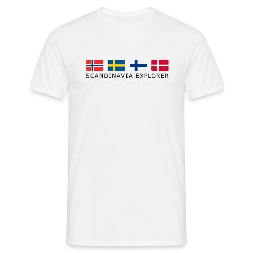 Classic T-Shirt SCANDINAVIA EXPLORER dark-lettered  - Men's T-Shirt