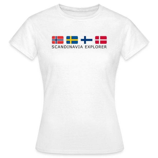 Women's T-Shirt SCANDINAVIA EXPLORER dark-lettered