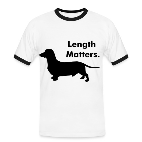 Sausage dog length matters tee. - Men's Ringer Shirt