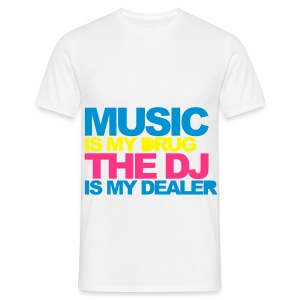 *MENS T-shirt* Music is my drub......(COLOURFUL) - Men's T-Shirt