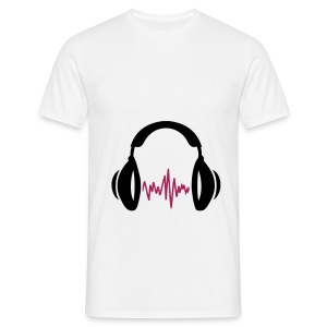 *MENS T-shirt* Headphones - Men's T-Shirt