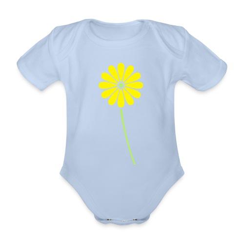 Flower body suit 06 - Organic Short-sleeved Baby Bodysuit
