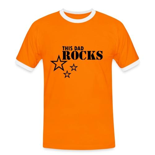 Dad Rocks - Männer Kontrast-T-Shirt