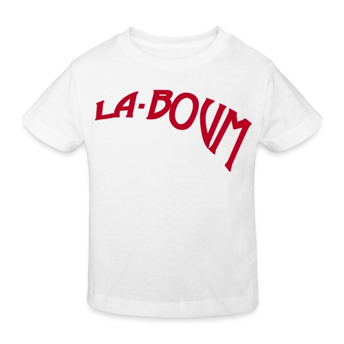 la-boum kids klimaneutral logo-red - Kinder Bio-T-Shirt