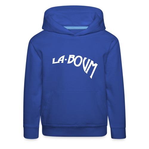 la-boum kids Kapuzenpullover logo-white - Kinder Premium Hoodie