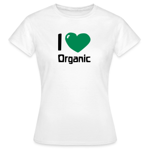 I love Organic Shirt - Frauen T-Shirt
