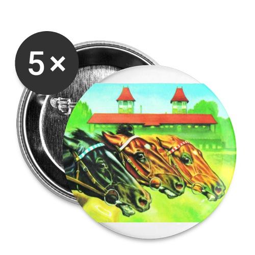 Sticker mit Pferdeköpfen - Buttons klein 25 mm