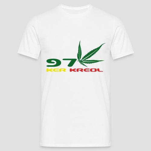 T-shirt Homme 974 ker kreol Zam zam Rastafari - T-shirt Homme