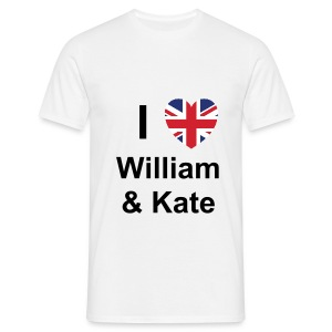I love William and Kate - Men's T-Shirt