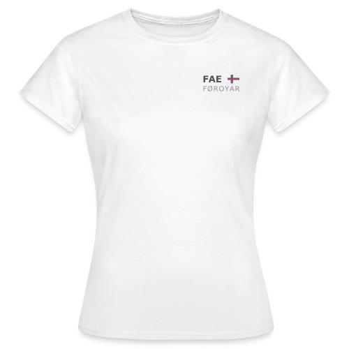 Women's T-Shirt FAE FØROYAR dark-lettered - Women's T-Shirt