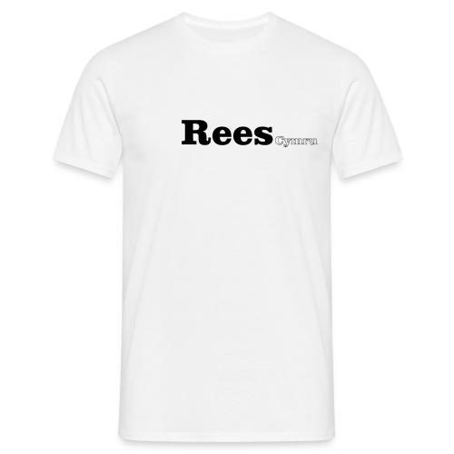 Rees Cymru black text - Men's T-Shirt