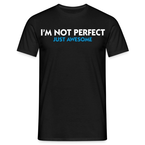 i'm not perfect mænd  JH-Deizegn - Herre-T-shirt