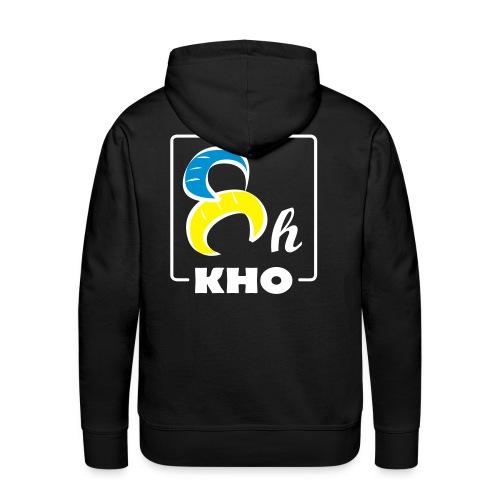 Hoodie 8H Color Custom Border White - Sweat-shirt à capuche Premium pour hommes
