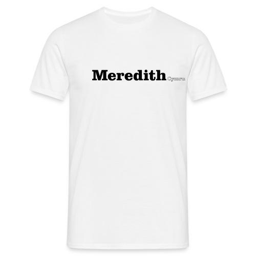 Meredith Cymru black text - Men's T-Shirt