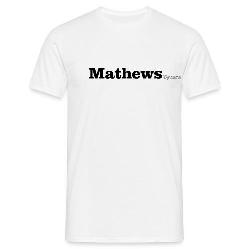 Mathews Cymru black text - Men's T-Shirt